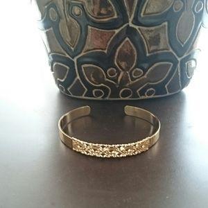 Free People hammered gold filigree cuff